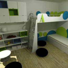 detska izba -skrinky